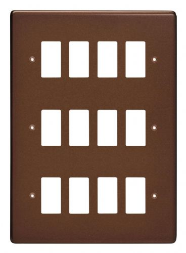 Varilight XDMPG12 PowerGrid Mocha 12 Gang Grid Plate (Triple Twin Plate)